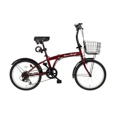 『送料無料』ミムゴ mimugo Classic Mimugo 20インチ折畳自転車 6段ギア クラシックレッド