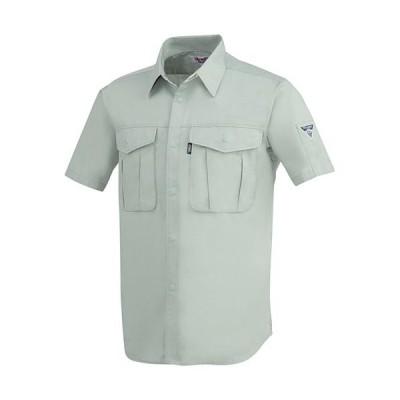 ジーベック(XEBEC) プリーツロンミニ半袖シャツ 61/モスグリーン 1292 作業服 作業着 ワークウエア ワークウェア メンズ レディース