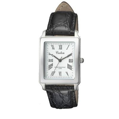クロトン CROTON 日本製スクエアクォーツデイト メンズ腕時計 RT-158M-CA  (HY)
