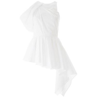 ALEXANDER MCQUEEN/アレキサンダー マックイーン ドレス OPTICAL WHITE Alexander mcqueen asymmetrical shoulder top レディース 秋冬20