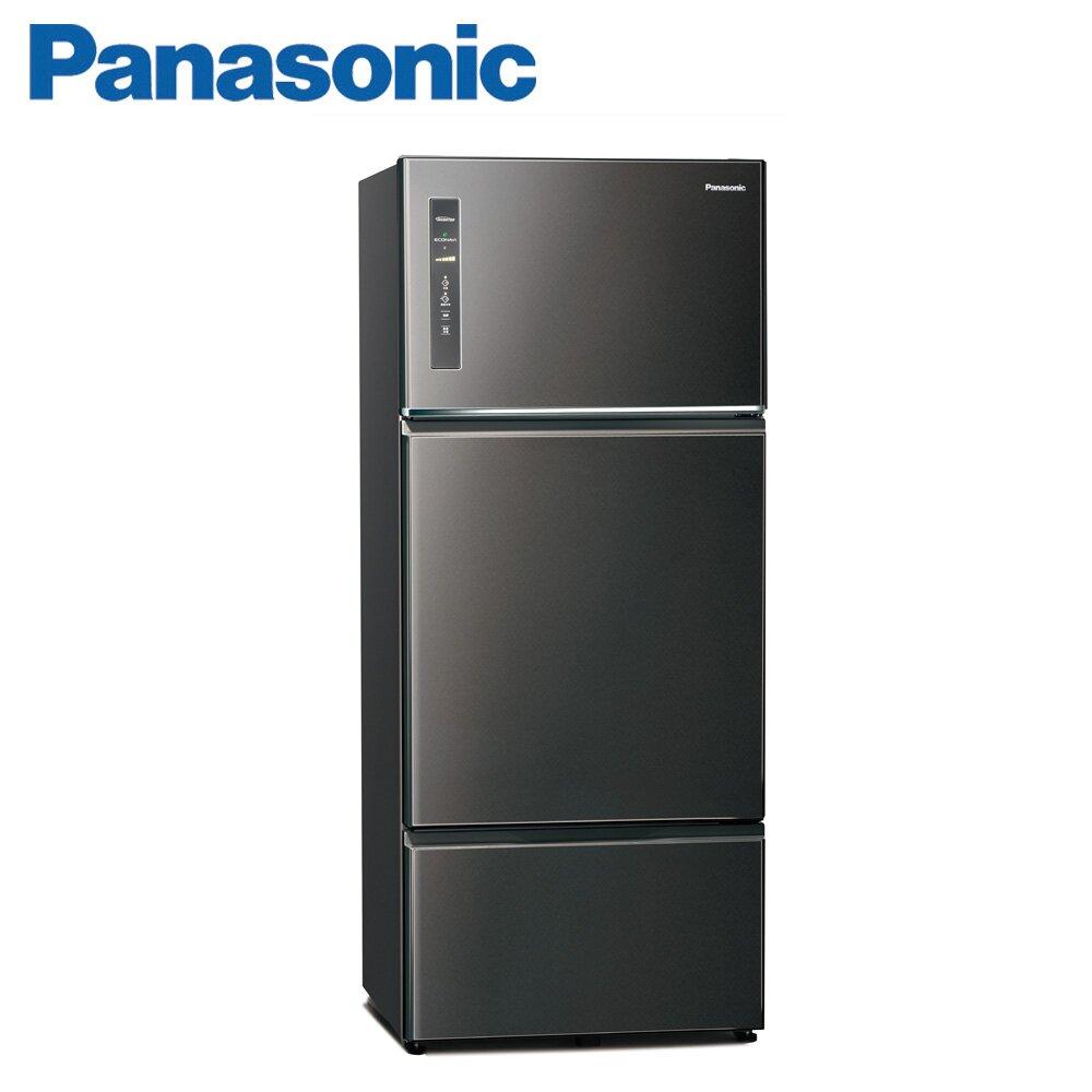 Panasonic國際牌481公升雙門變頻冰箱(NR-C481TV-K)-晶漾黑
