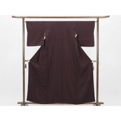 【中古】リサイクル小紋 / 正絹茶紫地袷小紋着物(古着 中古 小紋 リサイクル品)