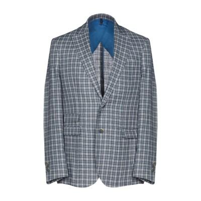 DOMENICO TAGLIENTE テーラードジャケット ブルーグレー 50 麻 100% テーラードジャケット