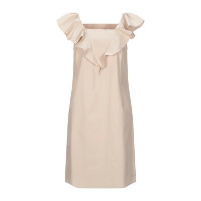 BOUTIQUE MOSCHINO ミニワンピース&ドレス ベージュ 42 コットン 100% ミニワンピース&ドレス