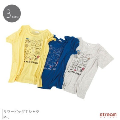 ビッグTシャツ Tシャツ 半袖 レディース かわいい おしゃれ カジュアル プリント サマー カットソー 薄手 トップス M-L ゆうパケット2点まで可