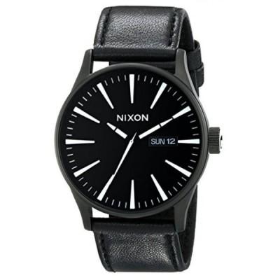 ニクソン 腕時計 メンズウォッチ Nixon Men's A105 42mm Sentry Leather Watch