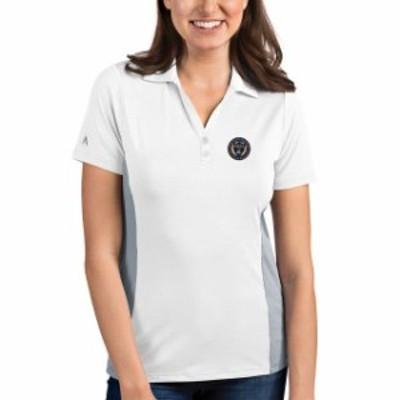 Antigua アンティグア スポーツ用品  Antigua Philadelphia Union Womens White/Steel Venture Polo