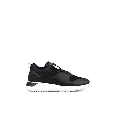 Hogan Luxury Fashion Man HXM3710AQ10M1AB999 Black Leather Sneakers | Season Permanent 並行輸入品