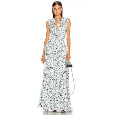 プロエンザ スクーラー Proenza Schouler レディース ワンピース ワンピース・ドレス Printed Maxi Dress Black/Sky Blue Leopard