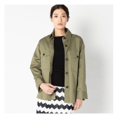 【エリオポール/HELIOPOLE】 HELIOPOLE 《MORE SALE》コットンツイル ミリタリーシャツジャケット