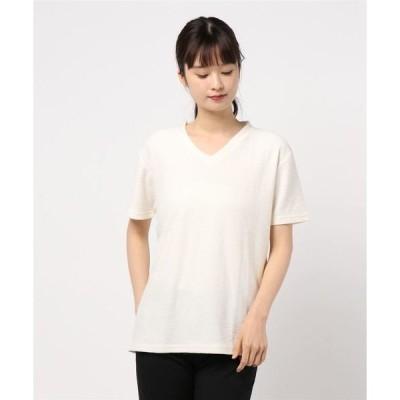 tシャツ Tシャツ 【Bl】【Bling Leads】変形裏毛VネックTシャツ