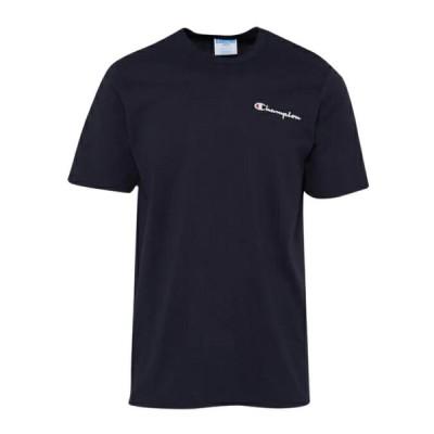 【倍倍ストア】(取寄)チャンピオン メンズ スクリプト エンブロイダード Tシャツ Champion Men's Script Embroidered T-Shirt Navy 送料無料 倍々ストア