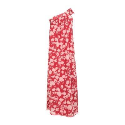 メルシー ..,MERCI ロングワンピース&ドレス レッド 42 ポリエステル 100% ロングワンピース&ドレス