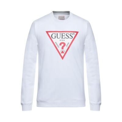ゲス GUESS スウェットシャツ ホワイト M コットン 95% / ポリウレタン 5% スウェットシャツ