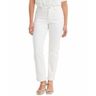 リーバイス レディース デニムパンツ ボトムス Women's Classic Straight-Leg Jeans Simply White