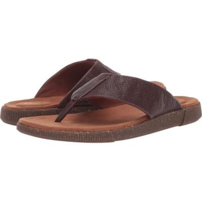 クラークス Clarks メンズ ビーチサンダル シューズ・靴 Vine Oak Mahogany Leather