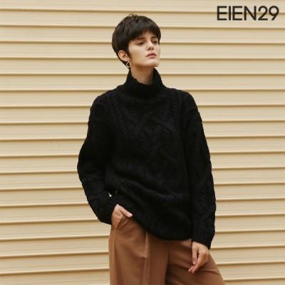 日本未発売 EIEN29 ニット ウール 長袖 セーター トップス シンプル 無地 タートルネック ゆったり オーバーサイズ 母の日