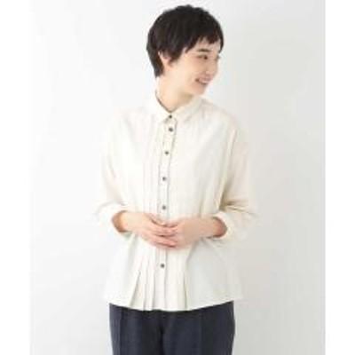 ジャンニ ロ ジュディチェフロントプリーツコットンシャツ【お取り寄せ商品】