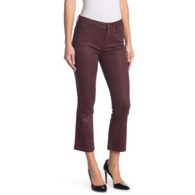 フレーム レディース デニムパンツ ボトムス Le Crop Mini Bootcut Coated Jeans BORDEAUX COATED
