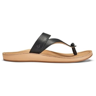 オルカイ レディース スニーカー シューズ Olukai Kaekae Ko'o Sandals - Women's Black/Golden Sand