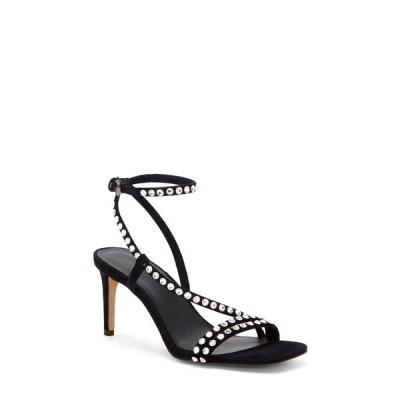 レベッカミンコフ レディース サンダル シューズ Nanine Crystal Embellished Sandal BLACK 01