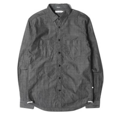 DELUXE デラックス シャツ シャンブレー ワークシャツ ブラック M 【メンズ】【美品】【中古】【K2736】