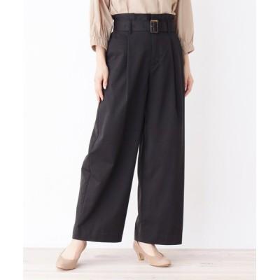 grove / 【ファブリーズ承認】消臭機能シリーズ!ベルト付きゆったりワイドパンツ WOMEN パンツ > パンツ