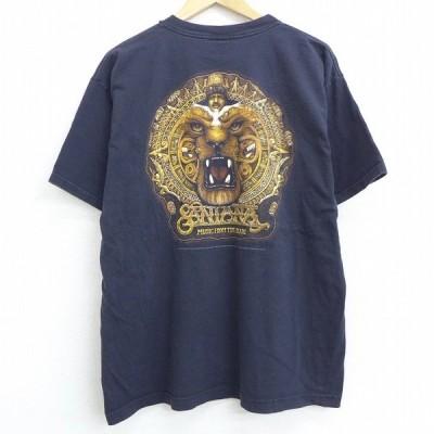 XL/古着 半袖 ビンテージ ロック バンド Tシャツ 90s サンタナ コットン クルーネック 黒 ブラック 21apr07 中古 メンズ