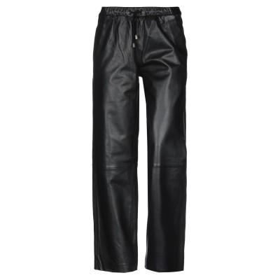 MUUBAA パンツ ブラック 12 羊革(ラムスキン) 100% パンツ