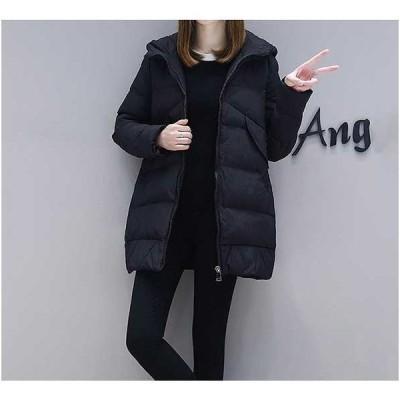 大きいサイズ ダウン ジャケット コート フード アウター ビッグサイズ 体型カバー 着痩せ