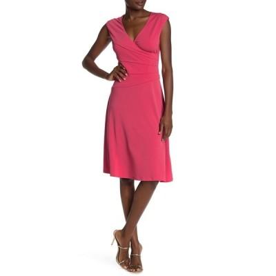 ロンドンタイムス レディース ワンピース トップス Side Tuck Fit & Flair Dress ROSETTE