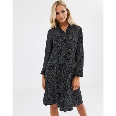 ジェイディーワイ レディース ワンピース トップス JDY mini shirt dress in black polka dot