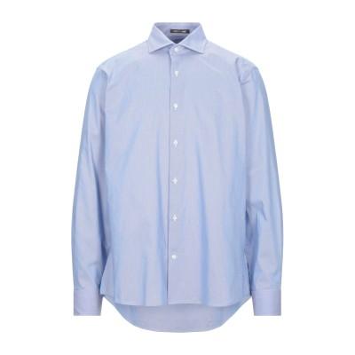 ロベルト カヴァリ ROBERTO CAVALLI シャツ ブルー 39 コットン 100% シャツ