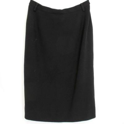 美品『USED』KRIZIA クリツィア ロング スカート レディース ウール 黒 40サイズ ブラック