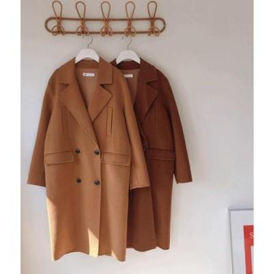 MIXXMIX レディース コート ESSAYWoolen Double-Breasted Coat