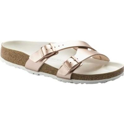 ビルケンシュトック Birkenstock レディース サンダル・ミュール シューズ・靴 Yao Birko-Flor Slide Metallic Copper Birko Flor