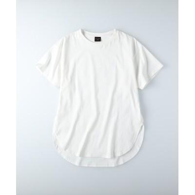 (RAG MACHINE/ラグマシーン)ラグマシーン ラウンドビッグシルエットTシャツ/レディース ホワイト