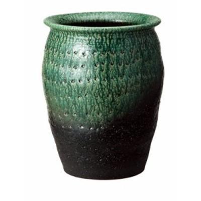 信楽焼 陶器 傘立 和風 モダン 洋風 壺  緑彩壺型傘立て 高さ49.5cm