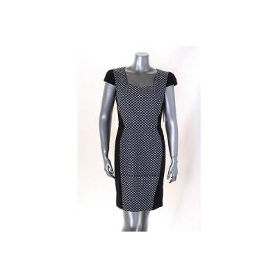 ディーケーエヌワイシー ドレス ワンピース フォーマル DKNYC ブラック マルチ Cap スリーブ プリント Sheath ドレス サイズ 8 MSRP 139 LAFO