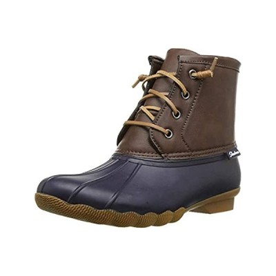 Skechers Mid Lace-Up Duck Boot Navy/Brown 5