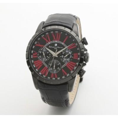 サルバトーレ マーラ SALVATORE MARRA クオーツ メンズ 腕時計 SM15103-BKBKRD ブラックレッド[通販 限定特価 高級腕時計 送料無料]