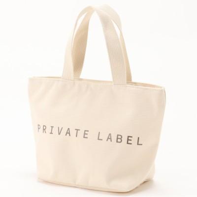 キャンバス調ロゴ手提げバッグ(プライベートレーベル/PRIVATE LABEL)
