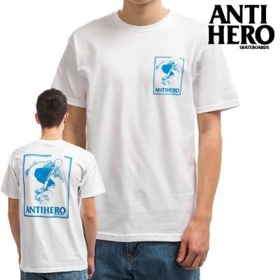 ANTIHERO アンタイヒーロー tシャツ/LANCE DAAN 半袖/ホワイト 日本正規品 スケボー スケートボード