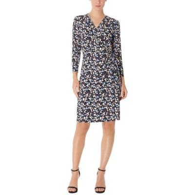 アンクライン レディース ワンピース トップス Mayfair Printed Faux-Wrap Dress
