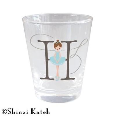 Shinzi Katoh バレリーナ イニシャルグラス H ARK-1471-H(食器)
