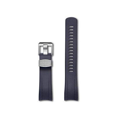 CRAFTER BLUE CB09 Curved End Watch Band Rubber Strap Replacement for Seiko Samurai Prospex Automatic Dive Watch SRPB51, SRPB09, SRPB53, SBDY007, SBDY0