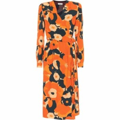 ドリス ヴァン ノッテン Dries Van Noten レディース ワンピース ラップドレス ワンピース・ドレス Floral Wrap Dress Orange
