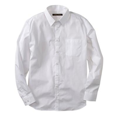 首まわりゆったり無地長袖シャツ(日本製) カジュアルシャツ, Shirts, テレワーク, 在宅, リモート