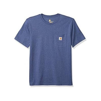 Carhartt Men's Short-Sleeve, Dusk Blue Heath, Medium