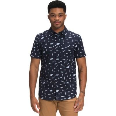 ザ ノースフェイス The North Face メンズ 半袖シャツ トップス Short Sleeve Baytrail Pattern Shirt Aviator Navy Camp Tools Print